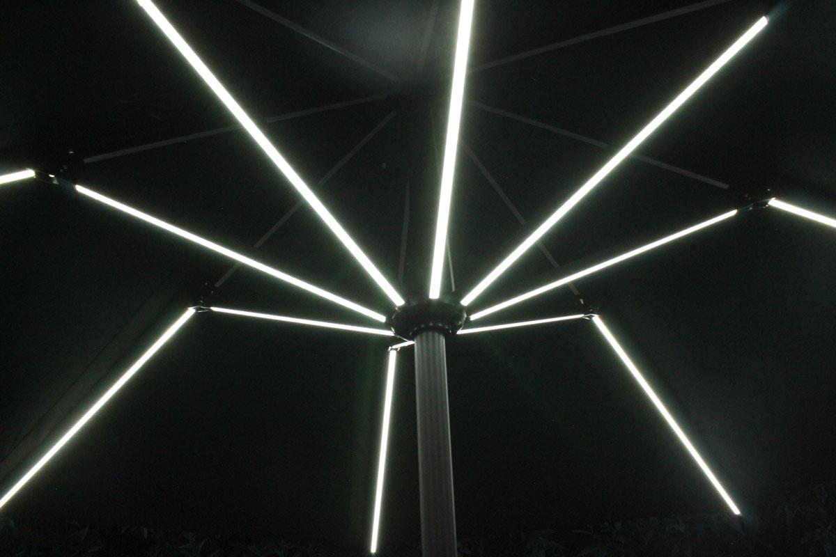 'Kasa' Solar Lit Umbrella -