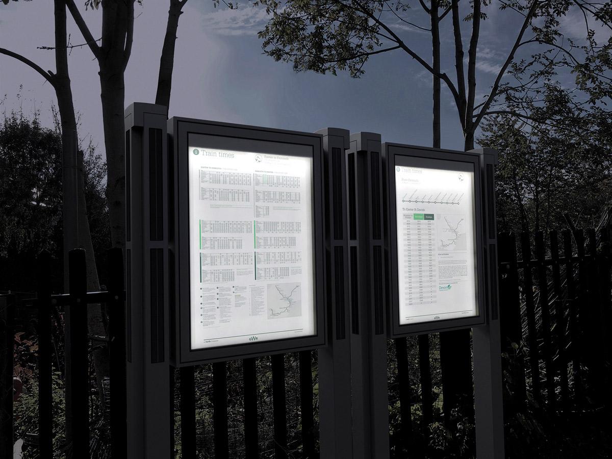 'SolarCase' Solar Lit Signs -