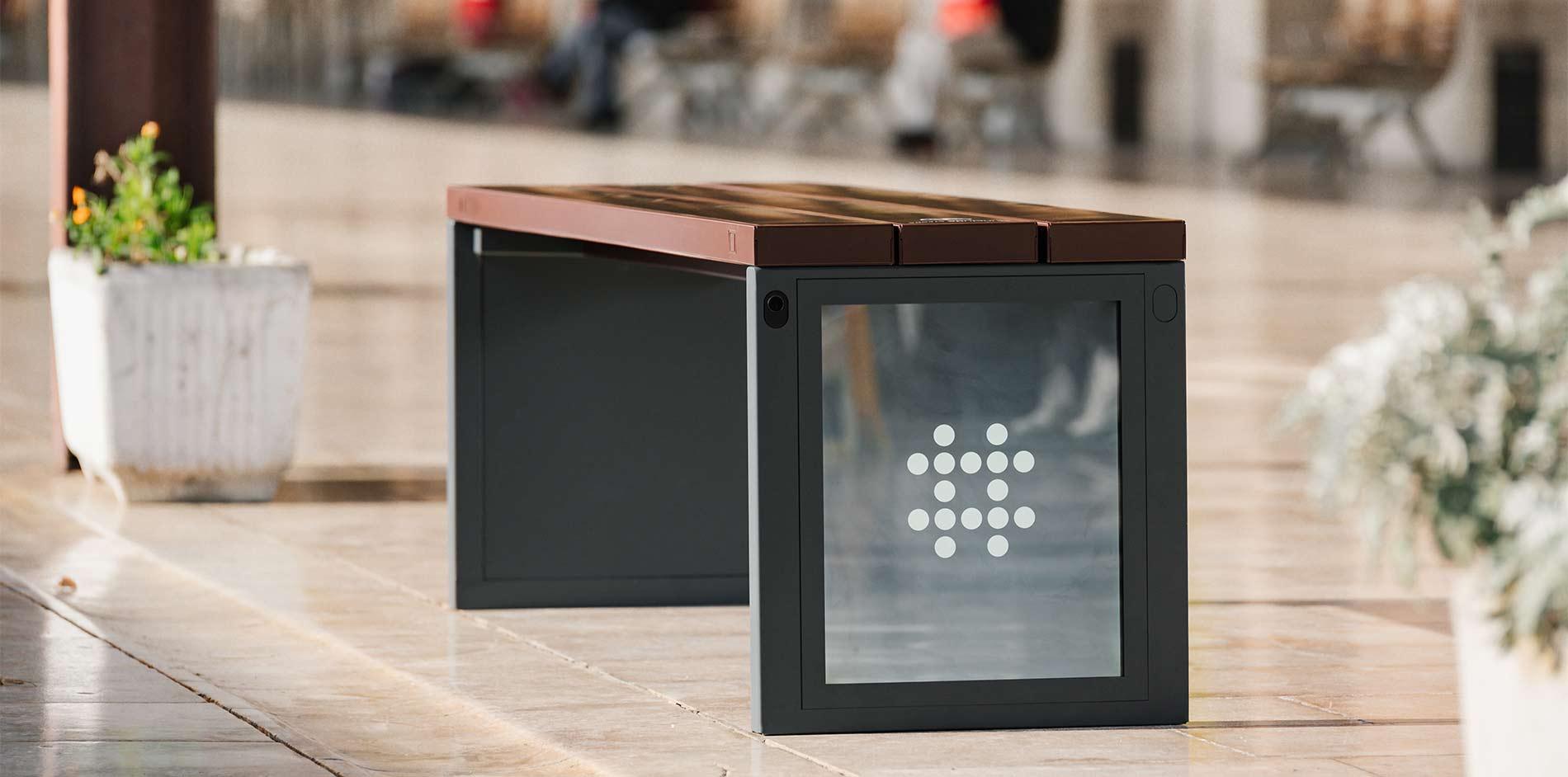 Steora 'City' Solar Bench Seat -