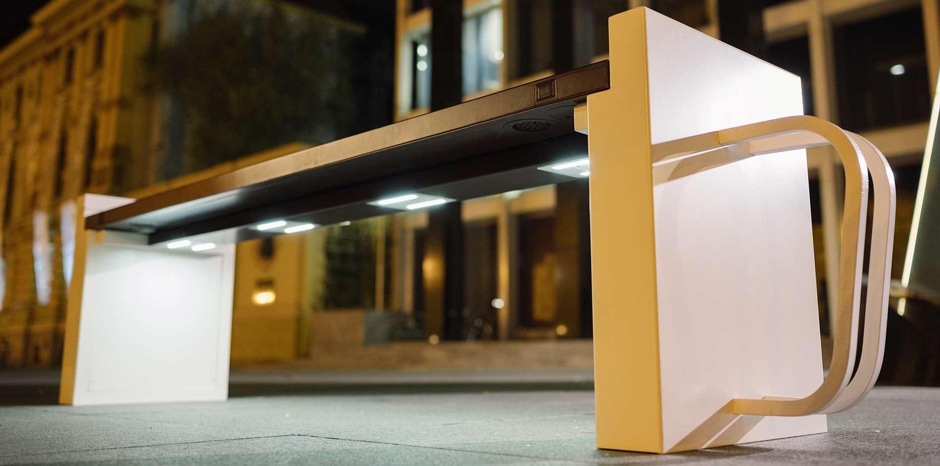 Steora 'Cyclo' Solar Bench Seat -